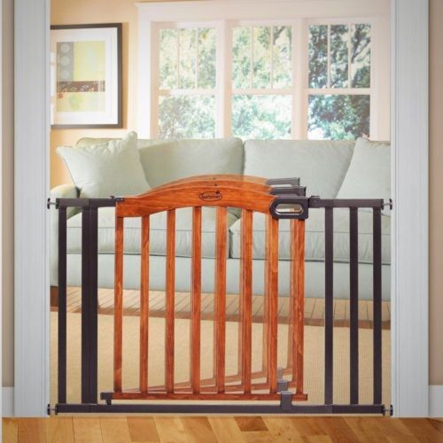 Merveilleux Pressure Mounted Baby Gate Multi Purpose Wood Metal Child Safety Swinging  Door