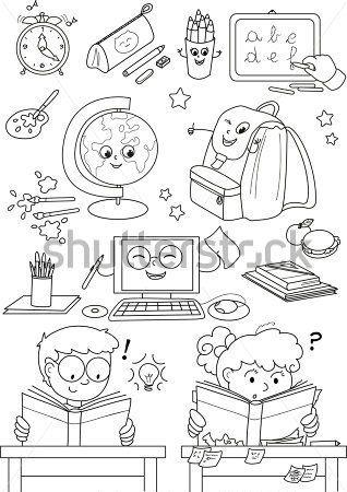 Dibujos Para Colorear Regreso A La Escuela Buscar Con Google Classroom Language School Supplies School