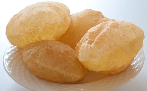 heavenly luchi.......deep fried thin pancakes