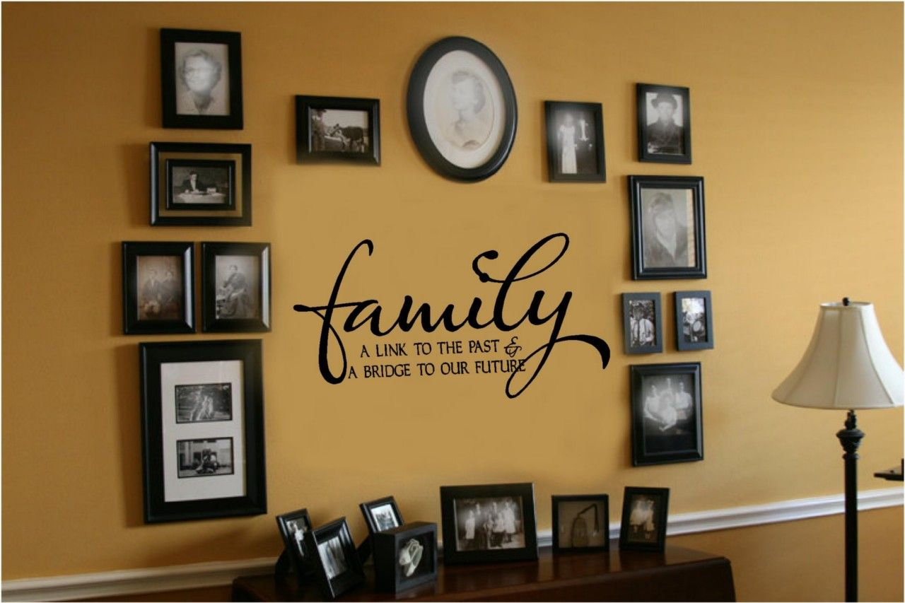 Family Link To Past Bridge To Future Vinyl Wall Decal Sticker Words ...