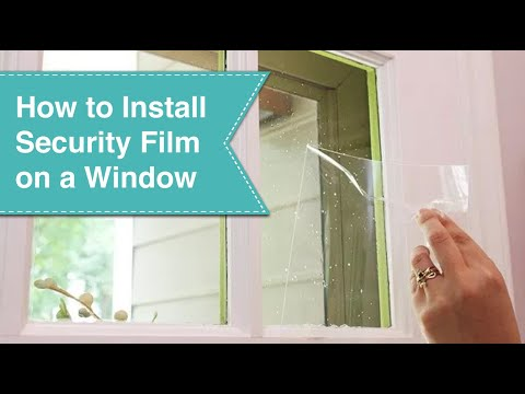 Learn How To Install Security Film To Safeguard Your Doors Or Windows From A Potential Break In It S A Simpl Security Window Film Installation Burglar Proof