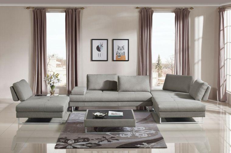 Divani E Design.Salone Moderno Ampio E Luminoso Con Divani E Poltrone
