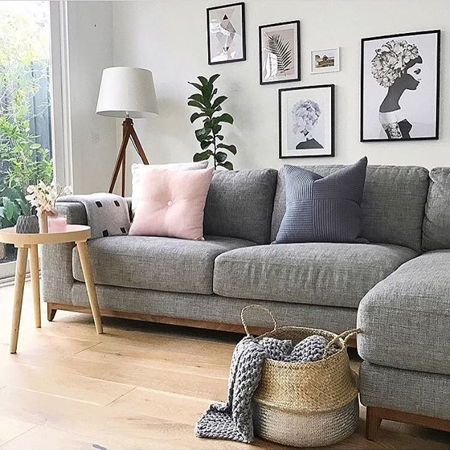 Graue Wände Wohnzimmer: Wohnzimmer Skandinavisch