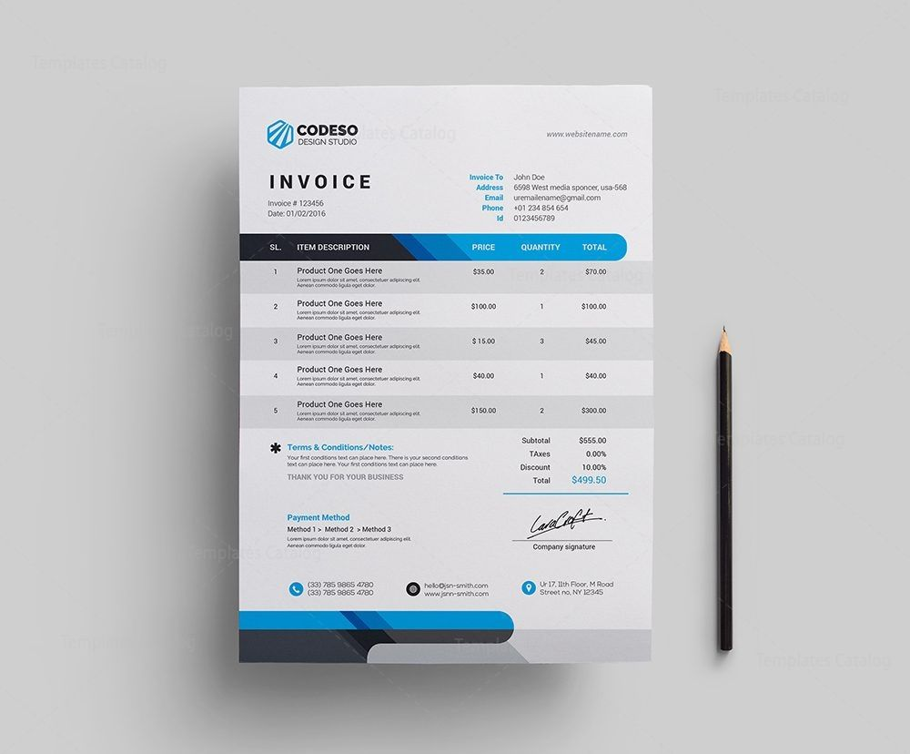 Modern Invoiceate Free Download Looking Word Graphic Design Doc Invoice Template Invoice Template Invoice Template Word Presentation Folder Templates