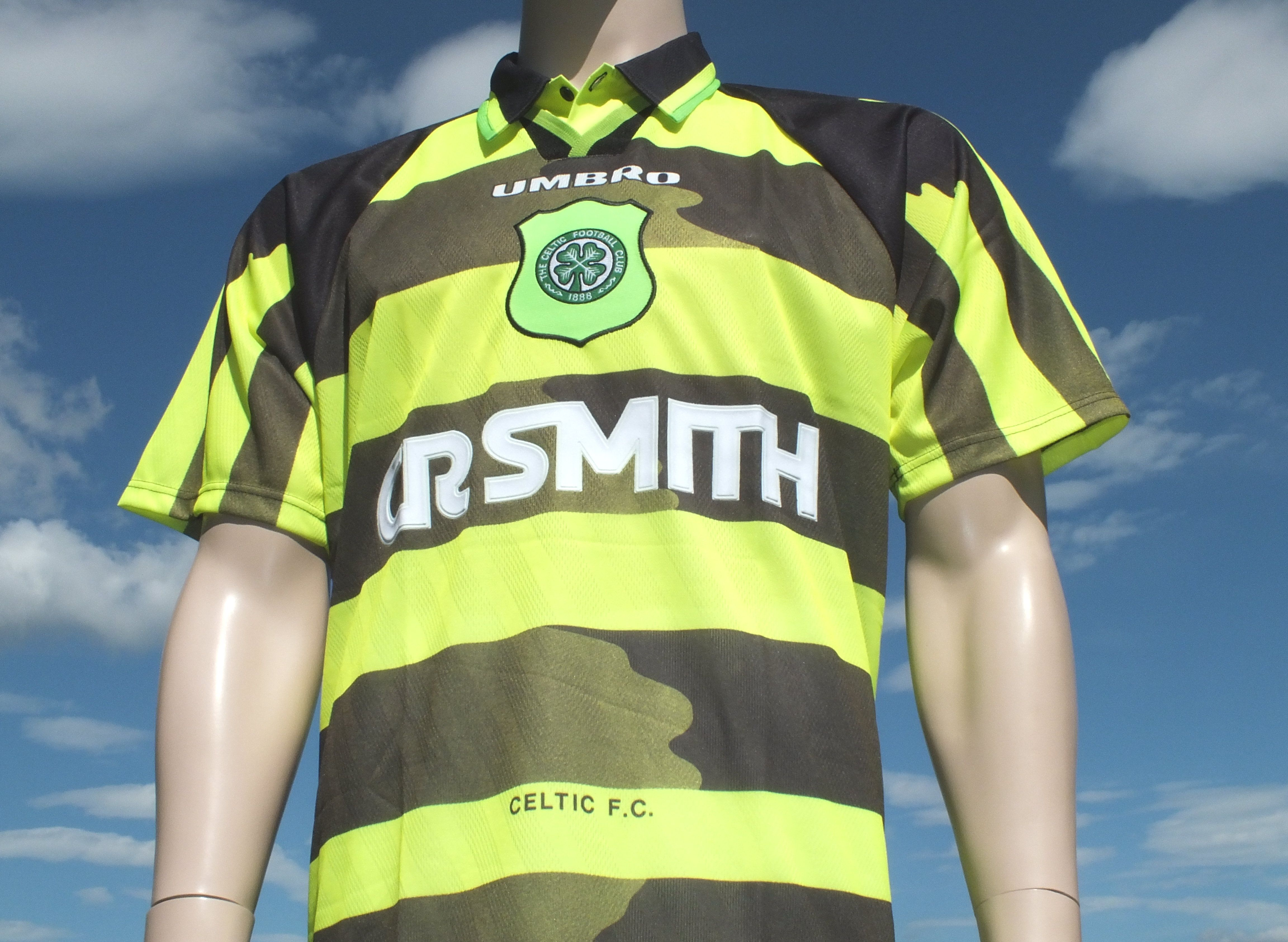 8a8f3b940 Celtic FC Away Shirt 1996-1997 Umbro CR Smith Bumblebee Replica ...