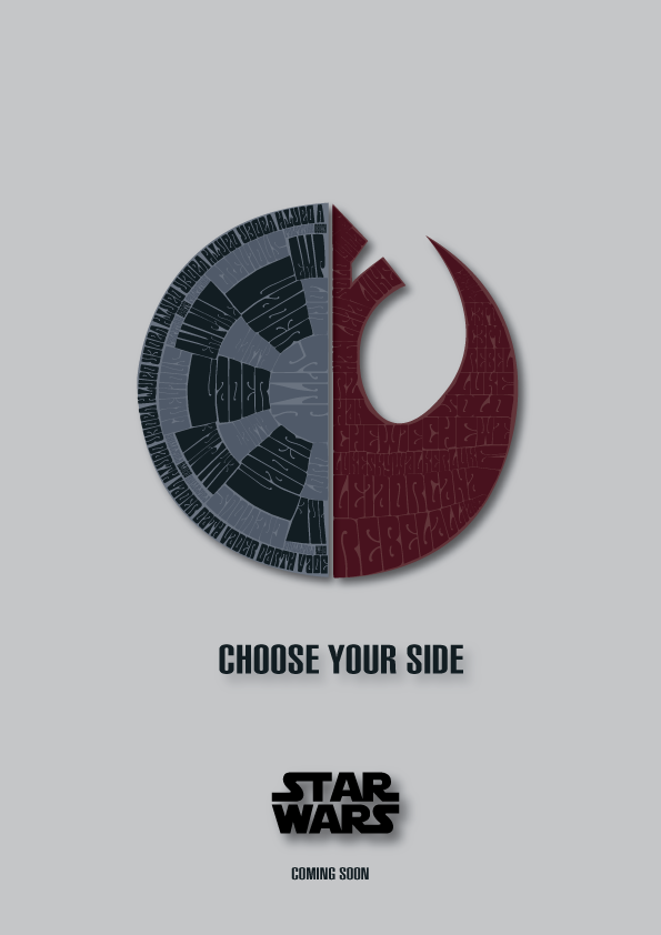 Tiefighters Star Wars Typography Created By Ana Camila Star Wars Poster Star Wars Geek Star Wars Wallpaper
