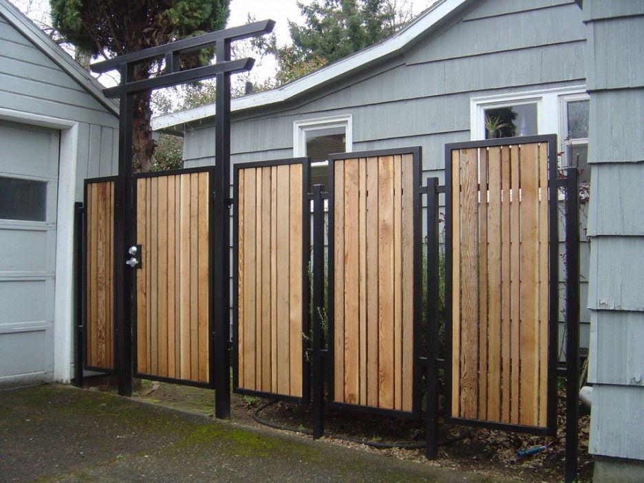 Exterior. Trendy Ideas Of Outdoor Wood Gates Designs. Extraordinary ...