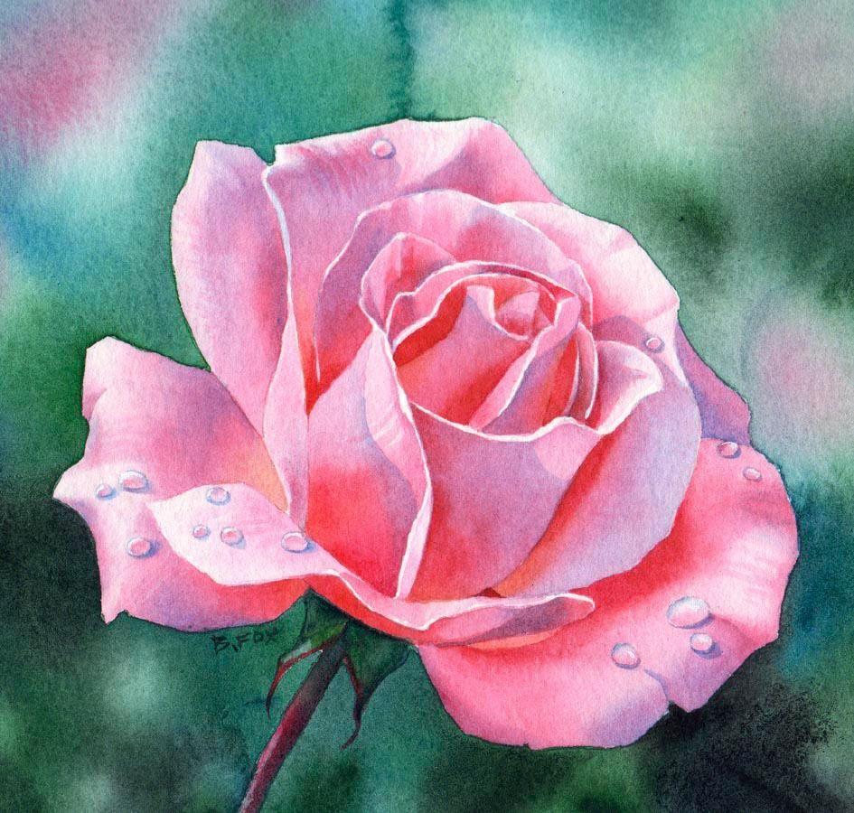 watercolor paintings of flowers - HD
