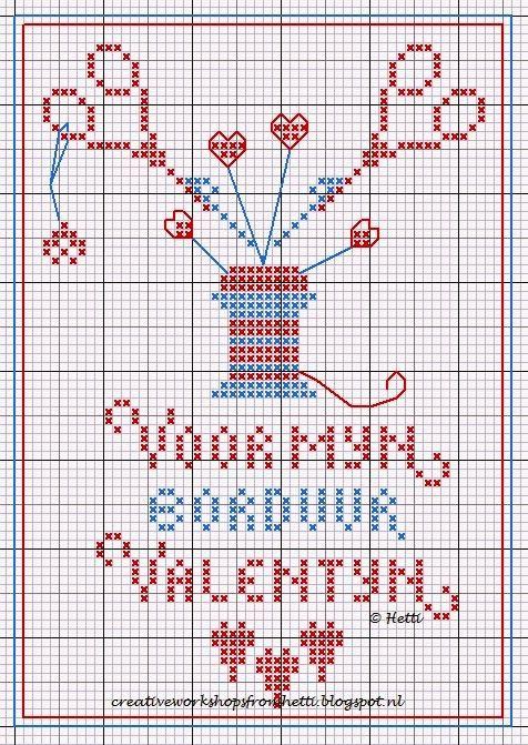 Voor alle borduur vriendinnen!     For all embroidery friends!             Ik heb een onregelmatig gevormd hart van het patroon gemaakt en ...