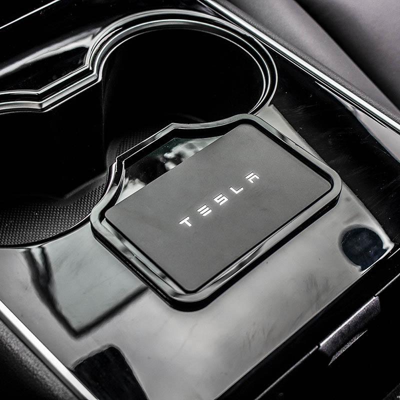 Center console key holder for tesla model 3 tesla
