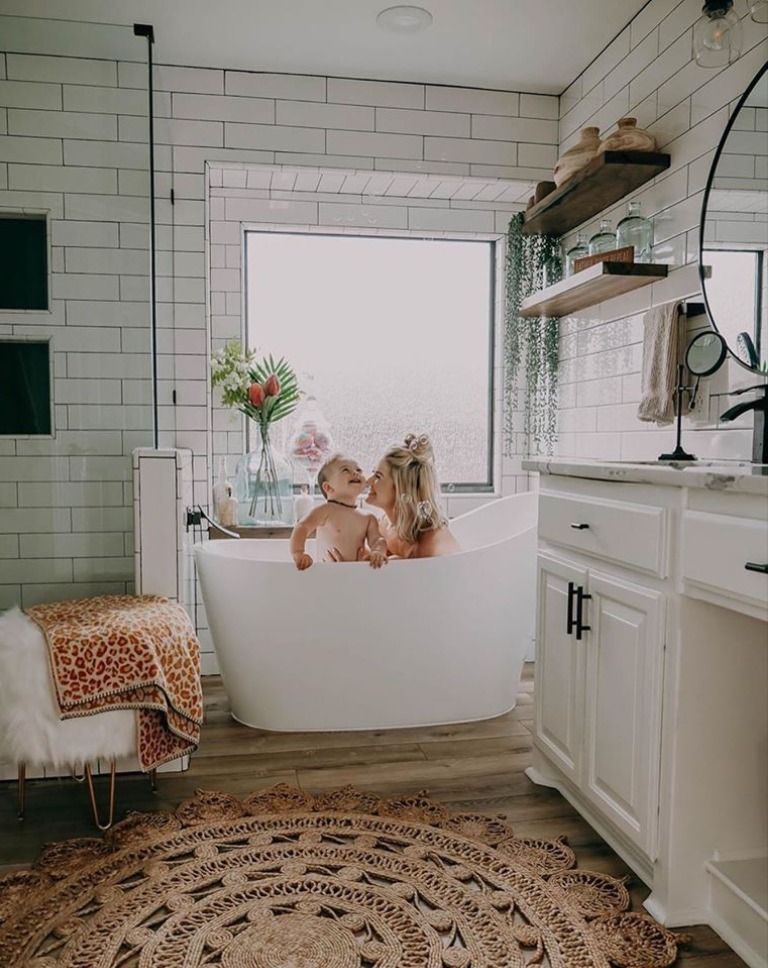 Bath time is the best time! 🧼@masseya has completely transformed her bathroom into a spa-quality space! Featuring our Longville Area Rug, we're definitely in love with this room! #boutiquerugs #arearug #modernrugs #farmhousedecor #farmhousestyle #moderndecor #modernstyle #styleyourspace #designerrug #rugs #handmaderugs #ruglove #homedesign #interiorstyle #modernhome #ourhome #love #ourcustomersrock #reviews #roominspo #home #farmhousefamily #farmhouse #bathroomdesign #bathtime #brinthistogether