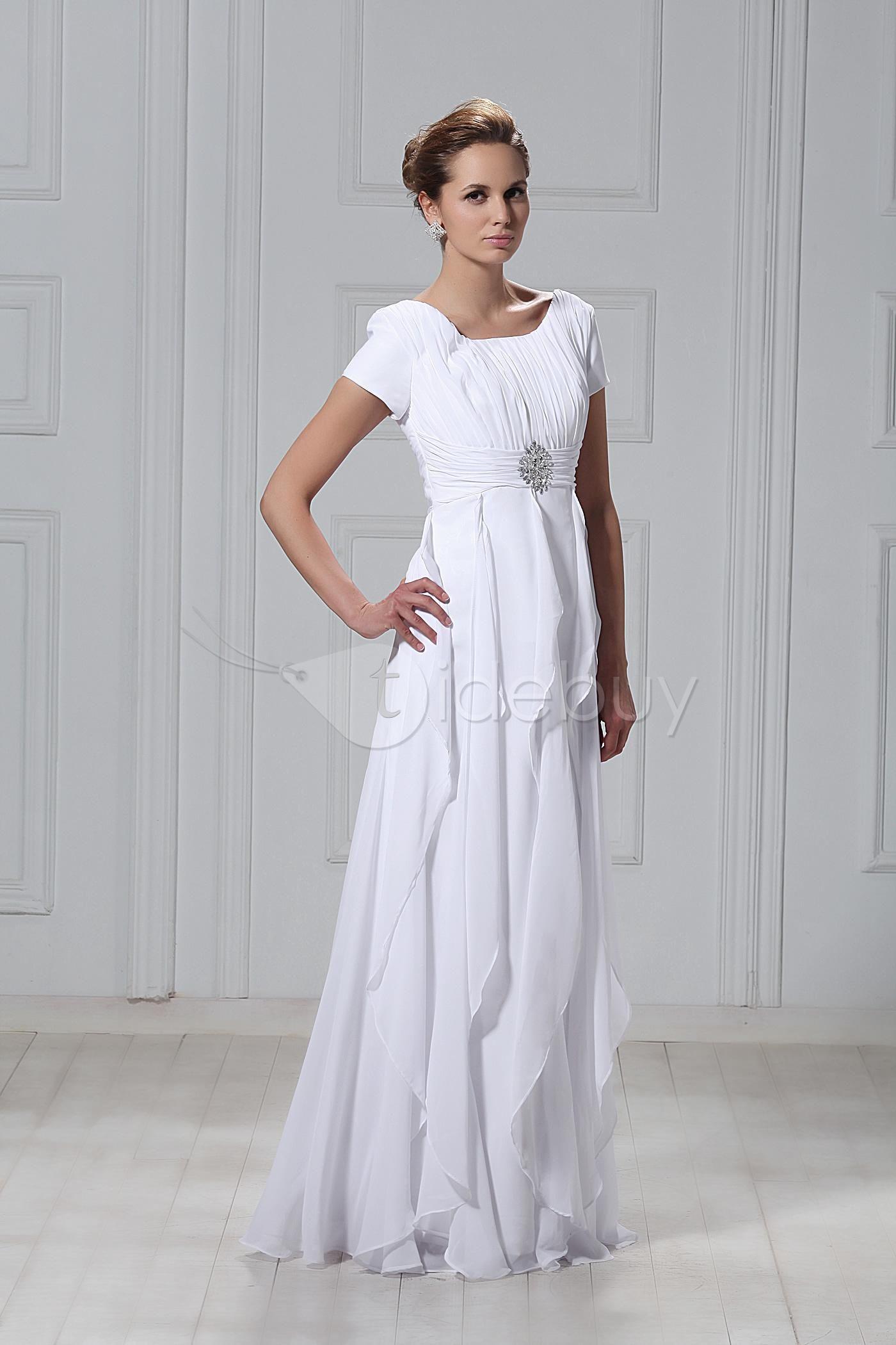 Elegant aline ruffles scoop the big day plan pinterest bridal