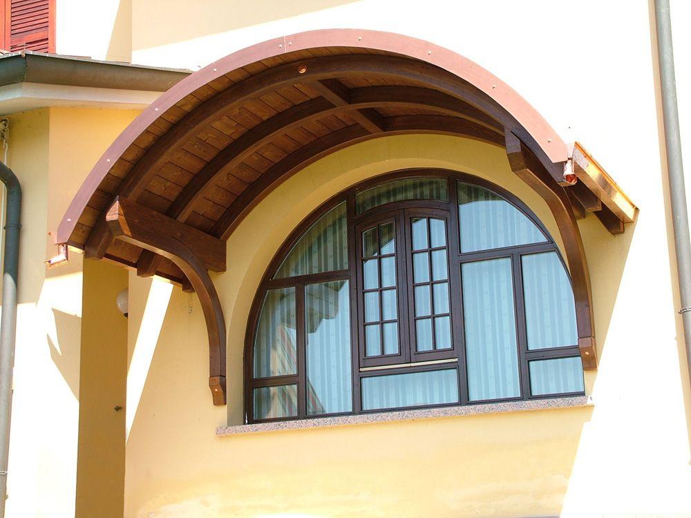 Tettoia copri finestra a sbalzo ad arco a tutto sesto - Finestre ad arco prezzi ...