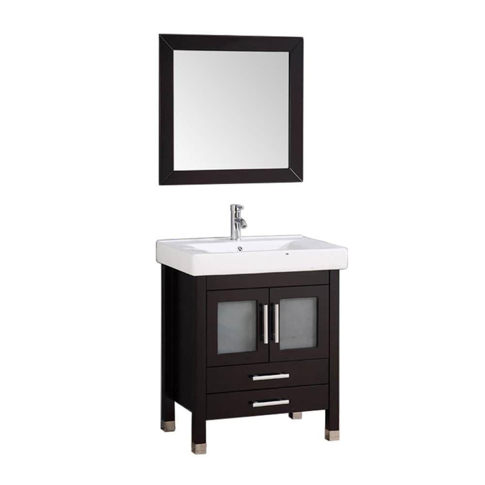 MTD Vanities Greece 30-inch Single Sink Espresso Bathroom