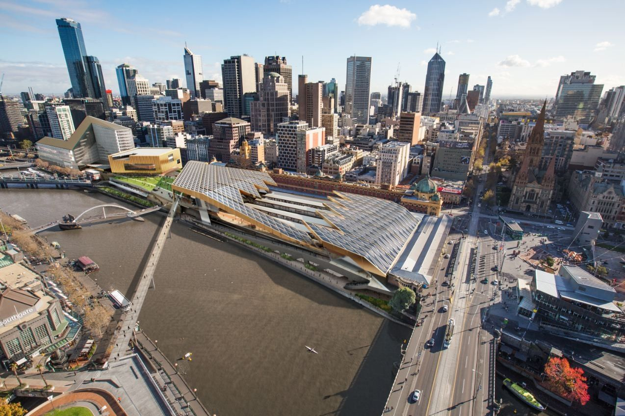 Galeria de Proposta Finalista para a Estação Flinders Street / NH Architecture - 1