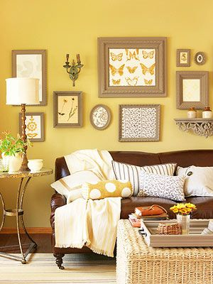 High-Impact Decorating Ideas   Wall picture arrangements, Green ...