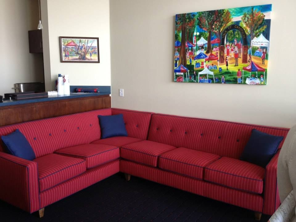 We love this red sectional.  Come shop with us at Something Southern in Oxford or Starkville, MS.