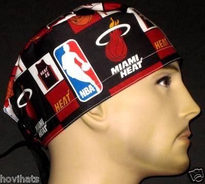 I JUST LISTED THIS NEW MIAMI HEAT SCRUB HAT IN MY STORE, HOVIHATS.COM CUSTOM SIZED SCRUB HATS!