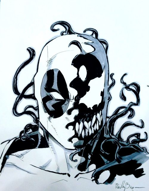 Deadpool Venom Art By Reilly Brown Tumblr Deadpool Tattoo Venom Tattoo Venom Art