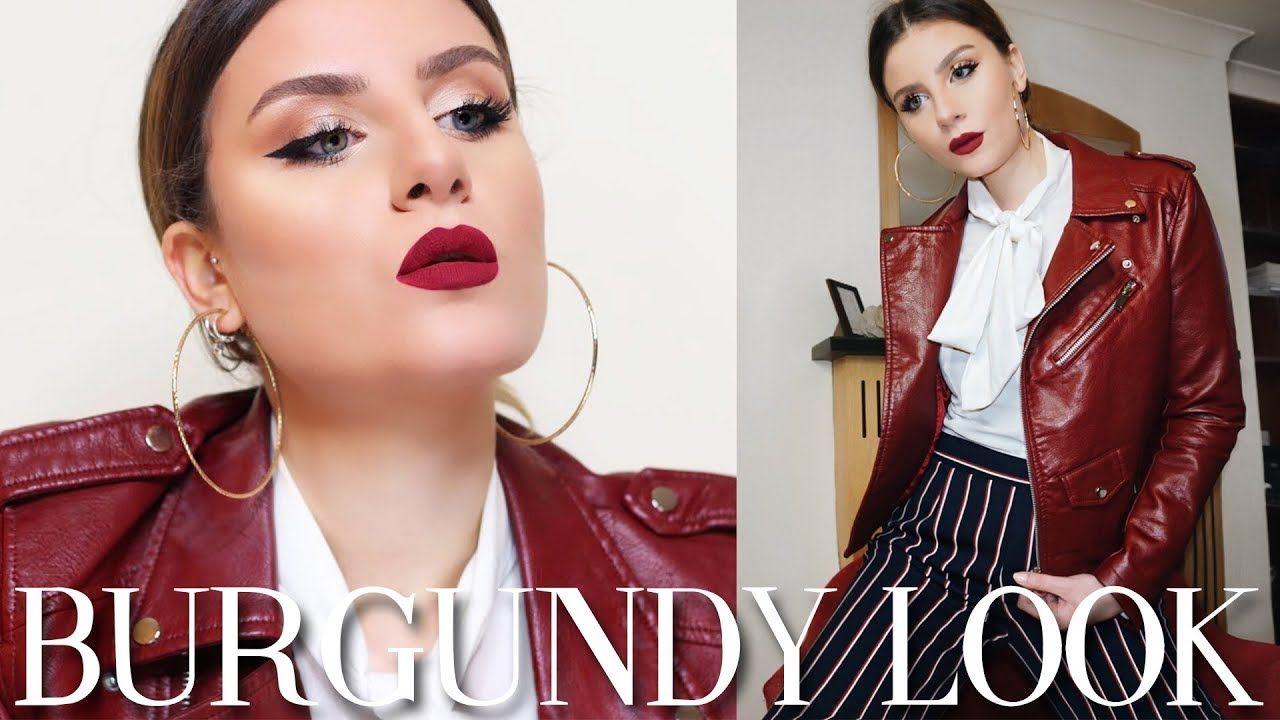 Look total tutorial makeup burgundy makeuptutorial makeuplook look total tutorial makeup burgundy makeuptutorial makeuplook redlipstick baditri Images