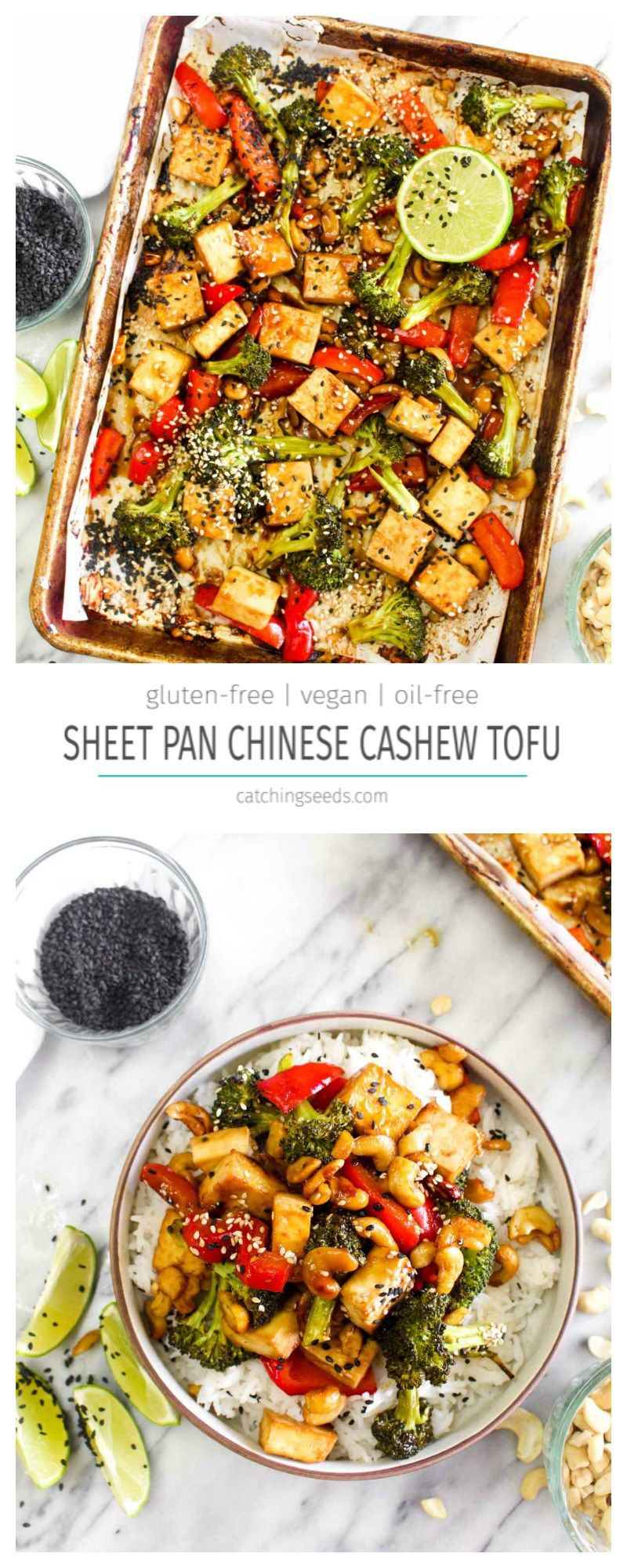 Sheet Pan Chinese Cashew Tofu