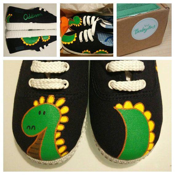 PaintedZapatillas Diseñados Slippers Hand Zapatos Y Dinosaur 0wXOk8nNP