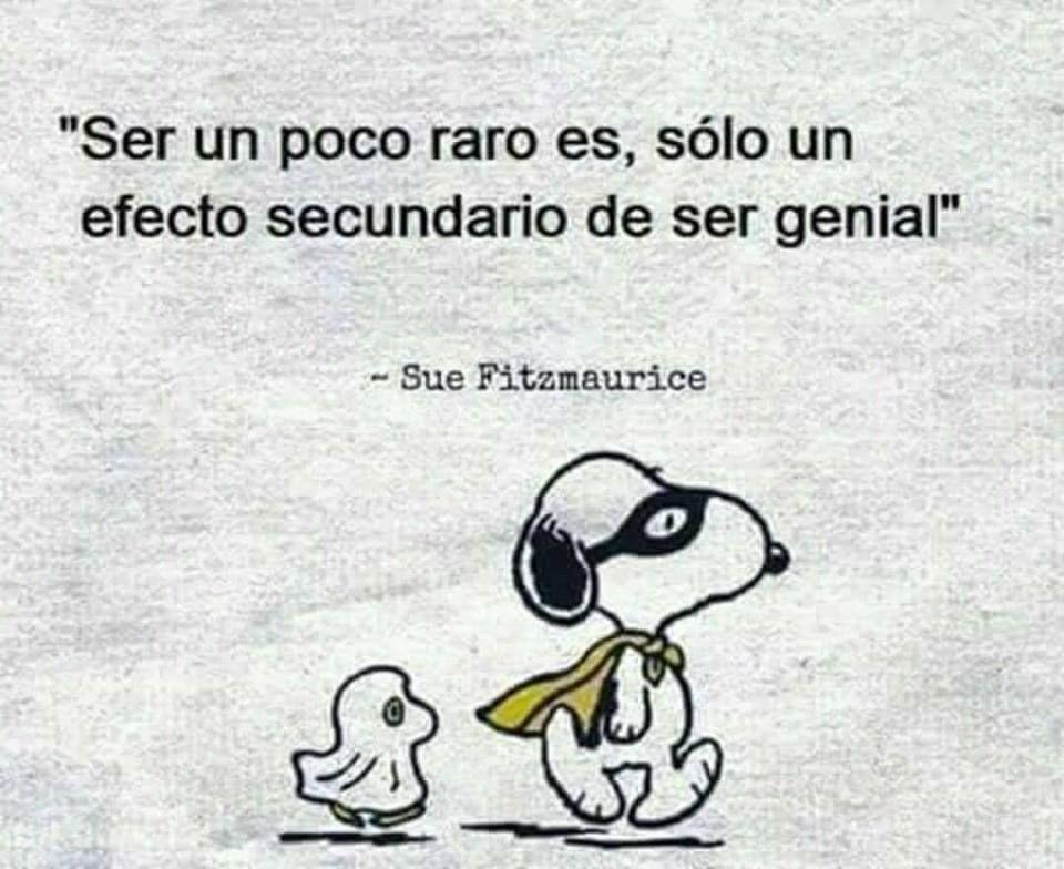 ❝ Ser un poco raro es, solo un efecto secundario de... #BuenosDias #FelizMiercoles ❞ ↪ Vía: proZesa