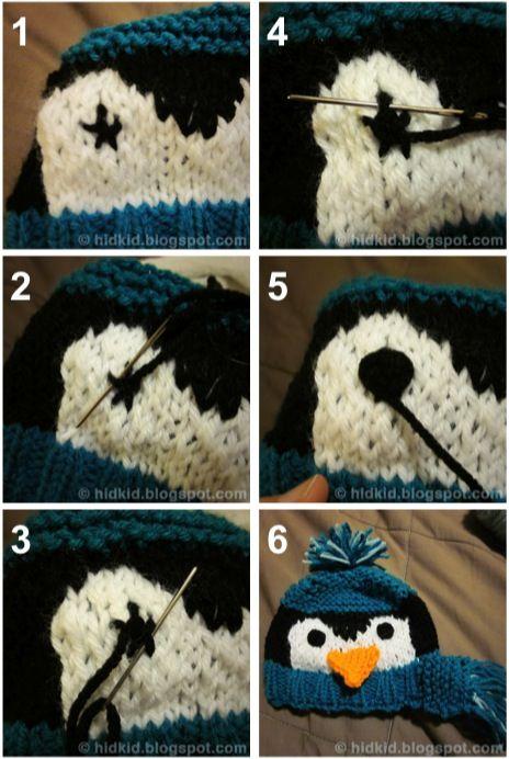 Embroidered Eye Tutorial-for knitting or crochet