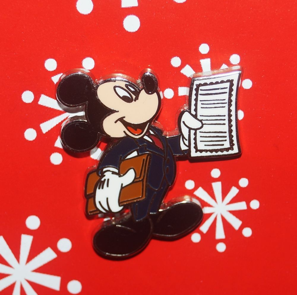 Disney Pin MICKEY Mouse Professions Business Man