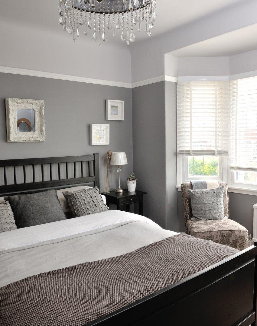Traditional Elegant Grey Bedroom With Images Remodel Bedroom