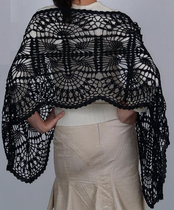 Crochet Patterns For Shawls With Sleeves : http://crochet-shawls.blogspot.nl/2012/09/free-crochet ...