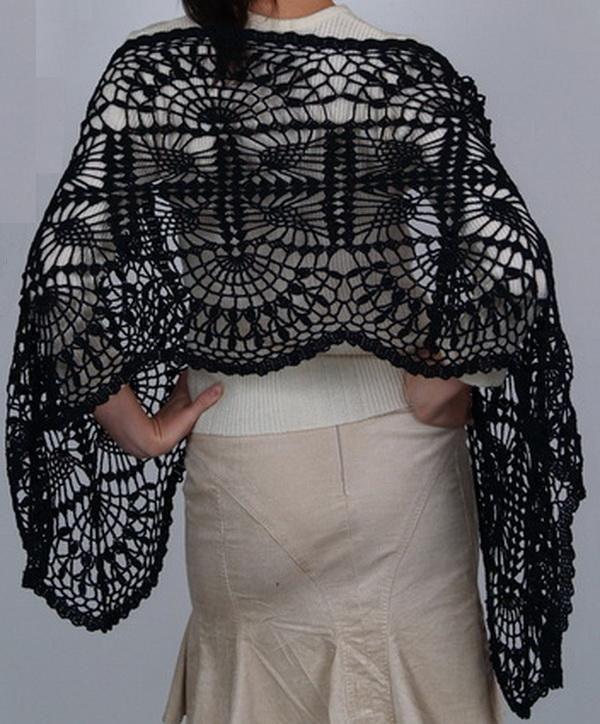 Crochet Patterns For Shawls With Sleeves : http://crochet-shawls.blogspot.nl/2012/09/free-crochet ...