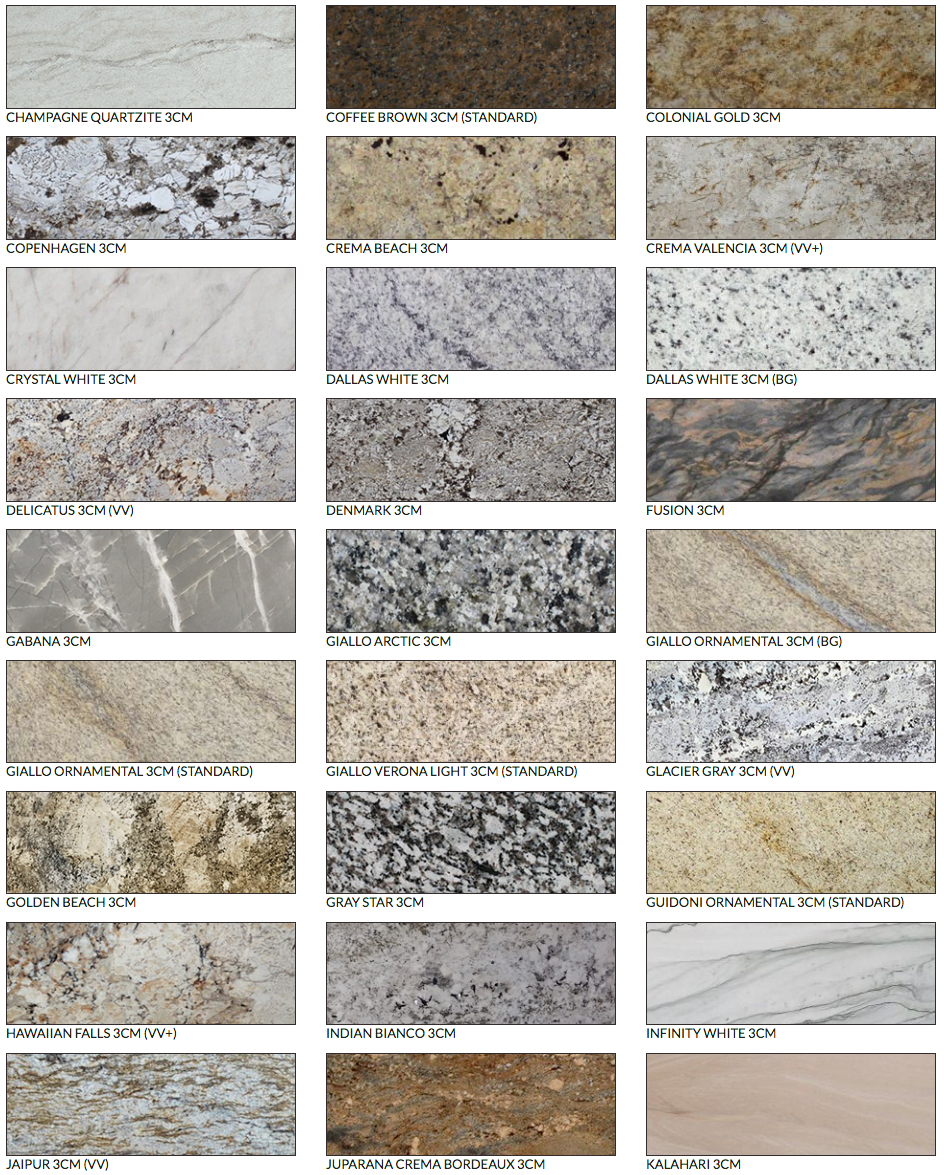 Verona Granite Selection With Images