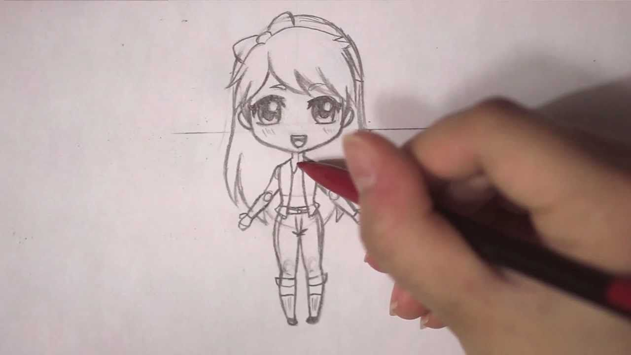 How to draw a chibi anime girl character tutorial for How to draw a little girl easy