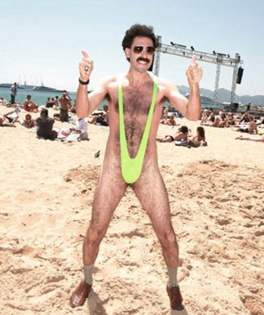 Borat Cultural Learnings Of America For Make Benefit Glorious Nation Of Kazakhstan 2006 Swimwear Manscaping Inappropriate Clothing