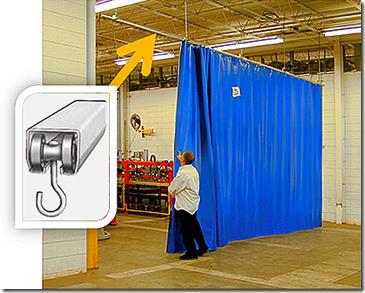 Custom Industrial Curtain Track Hardware Industrial Curtains
