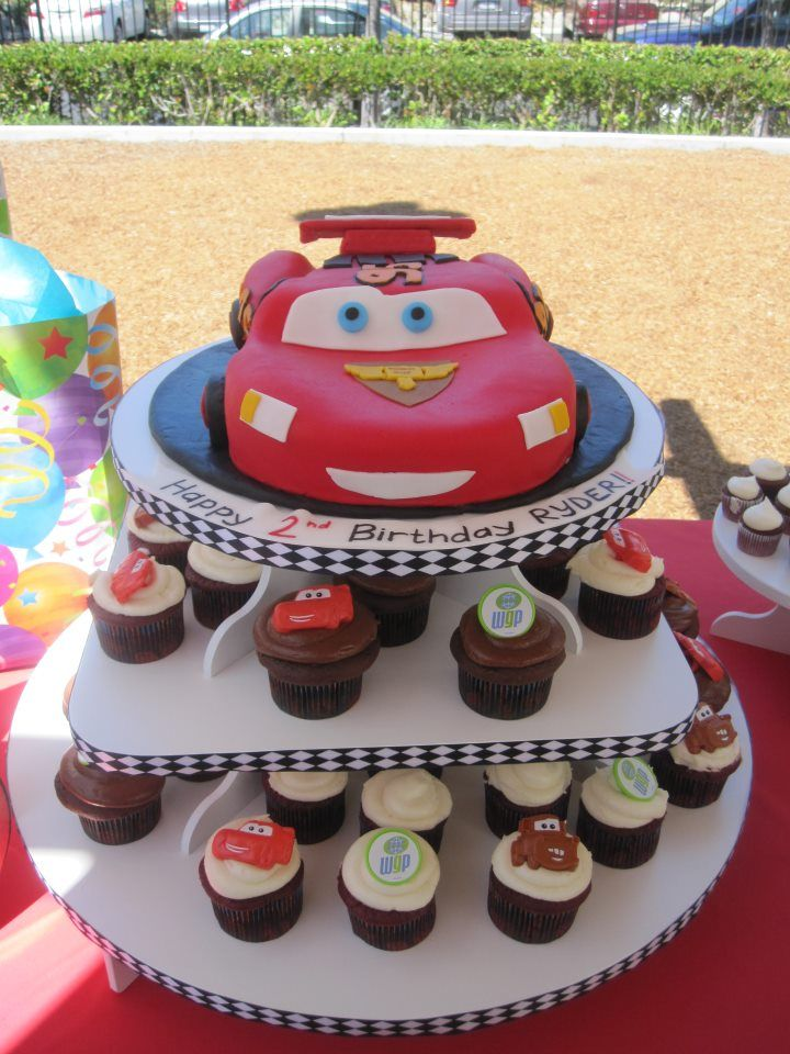 for when i have a boy Cars cupcake stand That Lightening McQueen