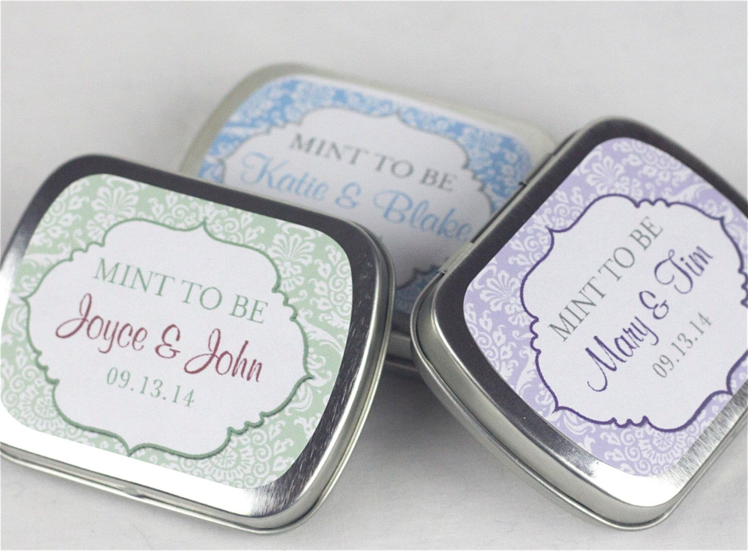 15 Personalized Favor Tins - Custom Mint Tins - Wedding Favors ...