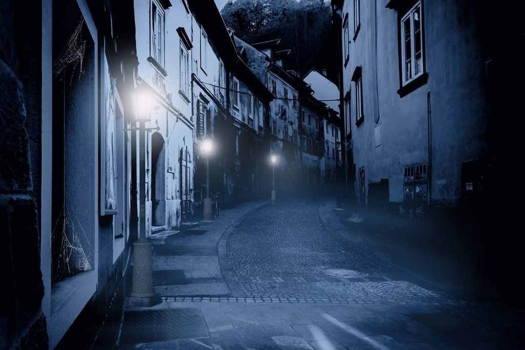 Premade Background Haunted Street 1 By H Stockdeviantartcom On