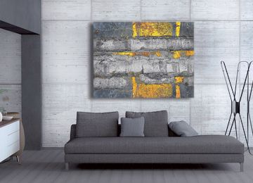 Abstract, Grey, Yellow, Modern, Limited Edition, Canvas Art, Canvas Print, Wall  Art,