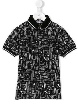 ca00663fd trumpet print polo shirt
