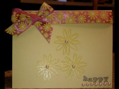 Smile Clear Embossed Card - YouTube