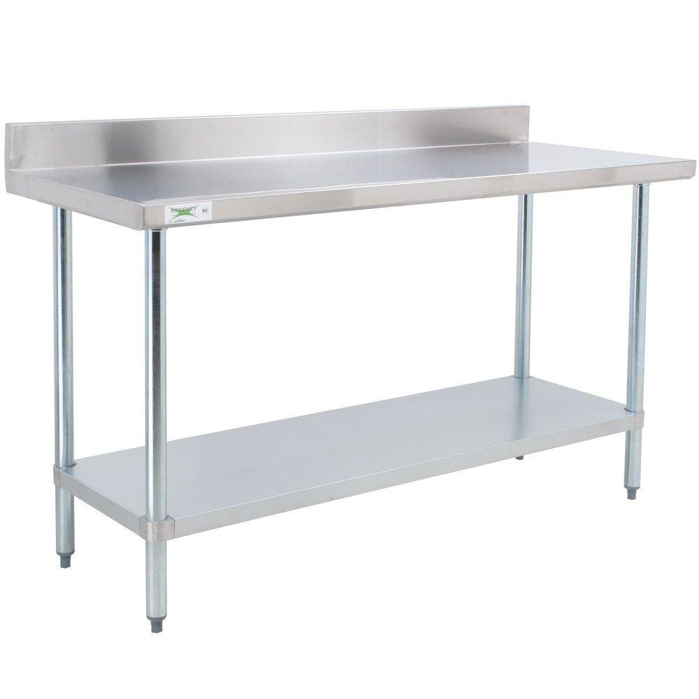 Regency X Gauge Stainless Steel Commercial Work Table - 30 x 60 stainless steel work table