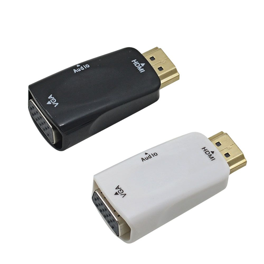 Mski Na Eski Hdmi Konwerter Vga Z Audio Kabel Do Pc Laptop To With Tablet Wsparcie 1080 P Hdtv Adapter