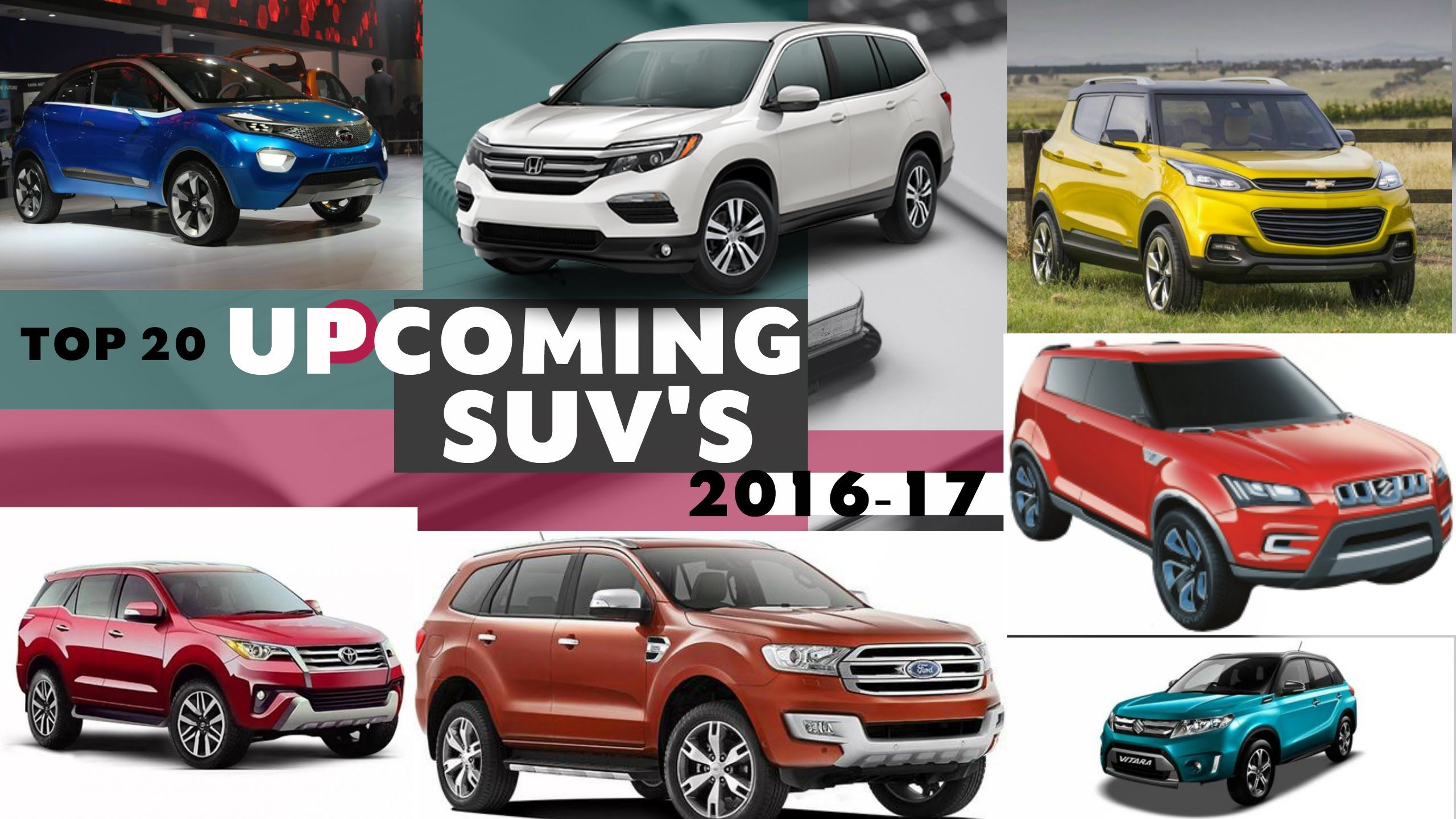 Top 20 Upcoming Suv Cars In 2016 17 India The Roads Will Never