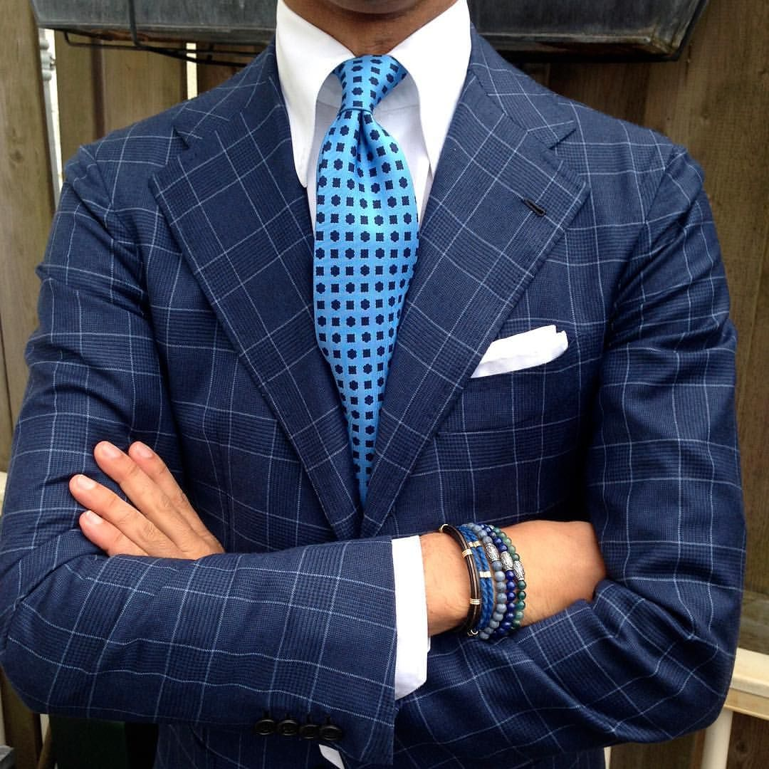 "violamilano: "" @rickycarlo is wearing a Viola Milano ""Artisan Pattern 7-fold silk tie - Blue"" tie & mix of bracelets… Shop your combinations at www.violamilano.com #violamilano #handmade #madeinitaly #luxury #sartorial #timeless #elegance #details..."