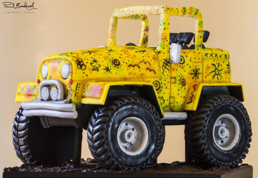 Jeep Cake - Cake by Paul Bradford Sugarcraft School