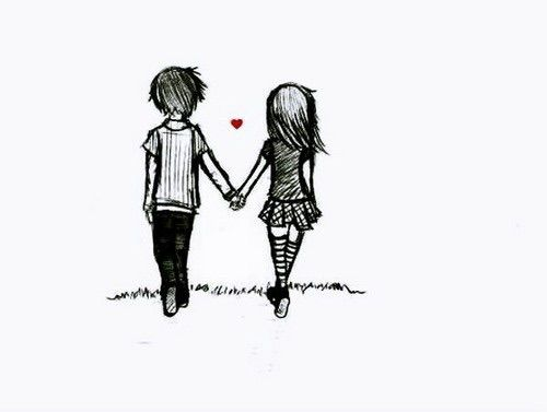 Image Via We Heart It Amor Couple Cute Cutie Drawing Heart