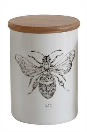 Bee Stoneware Jar
