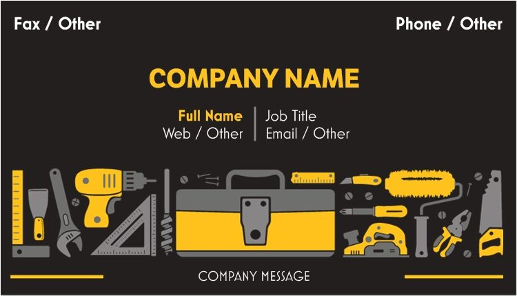 Business cards construction business cards business